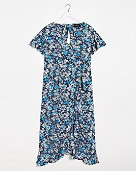 Lovedrobe Ruffle Detail Wrap Dress