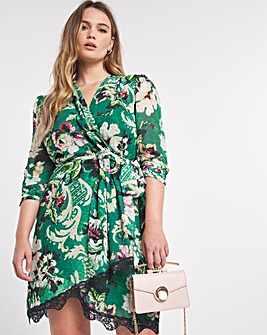 Hope & Ivy Niama Wrap Mini Dress