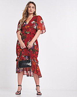Hope & Ivy Natasha Midi Dress