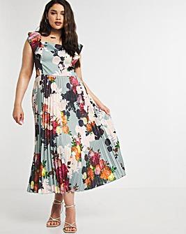 Chi Chi London Frill Strap Midi Dress