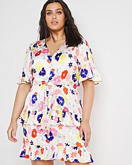 Chi Chi London Tie Waist Mini Dress