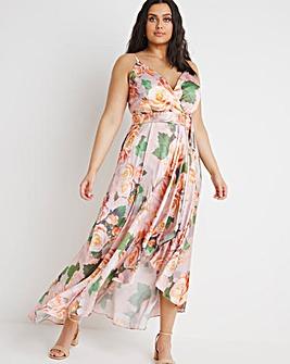 Chi Chi London Floral Wrap Maxi Dress