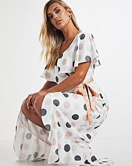 Chi Chi London Spot Wrap Dress