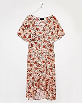 Lovedrobe Tie Waist Wrap Dress