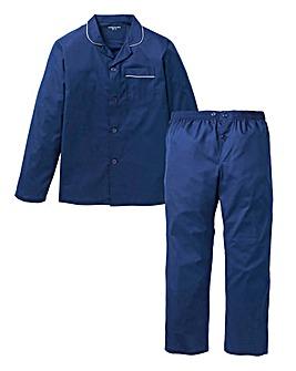 Capsule Navy Long Sleeve Plain PJ Set