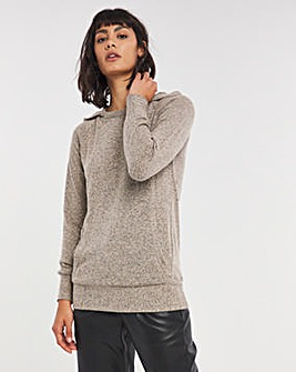 Oatmeal Marl Soft Touch Hoodie