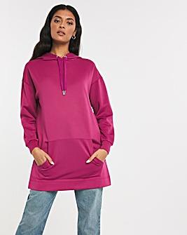 Deep Pink Longline Luxe Hoodie