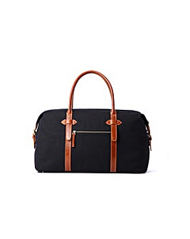 Hautton Canvass Leather Mix Holdall