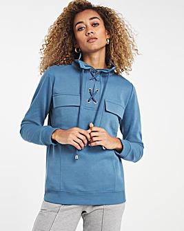 Tie Up Pocket Sweatshirt
