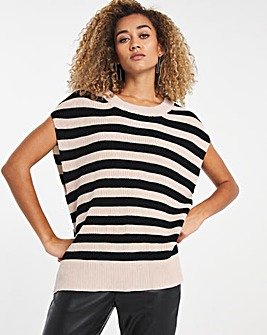 Selected Femme Stripe Sweater Vest