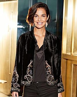 Joanna Hope Velvet Jacket