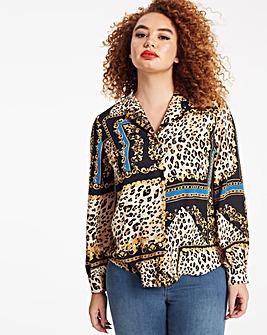 Chain Print Pyjama Style Shirt