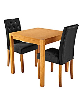 Oakham Square Table with 2 Grace Chairs