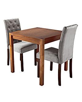 Oakham Table 2 Grace Velvet Chairs