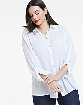 White Crinkle Shirt