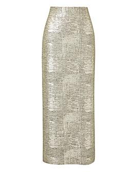 Joanna Hope Metallic Tube Skirt