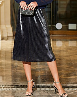 Joanna Hope Pleated Metallic Skirt