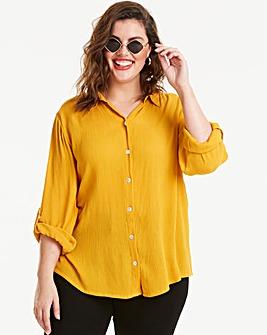 Saffron Crinkle Shirt
