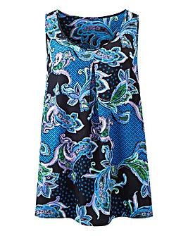 Blue Paisley Print Vest