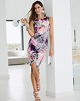 Together Ruched Print Dress
