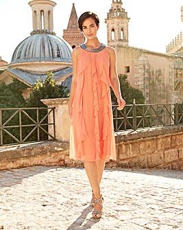 Joanna Hope Frill Detail Swing Dress