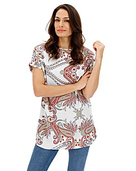 Pastel Paisley Longer Length Boxy Top