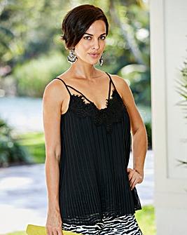 307b3b06426185 Joanna Hope Black Pleat Detail Cami