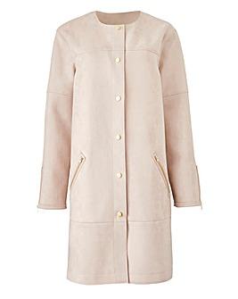 Joanna Hope Mock Suede Coat