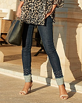 Joanna Hope Pearl Trim Jeans