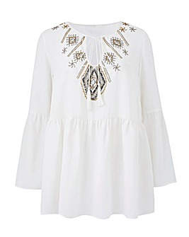 Joanna Hope Embellished Blouse