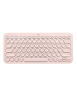 Logitech K380 Multi-Device Bluetooth Keyboard Rose