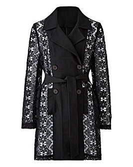 Joanna Hope Lace Sleeve Jacket