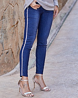 Joanna Hope Embellished Skinny Jeans
