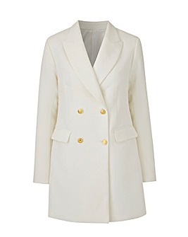 Joanna Hope Petite Ivory Tailored Blazer