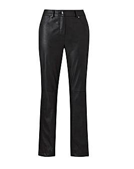 Joanna Hope Black PU Trousers