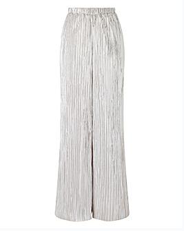 Joanna Hope Metallic Plisse Trousers