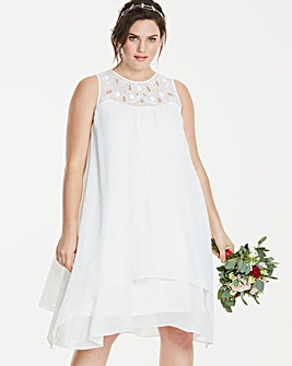 Joanna Hope Jewel Trim Swing Dress