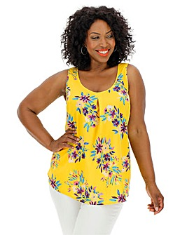 Yellow Floral Printed Vest