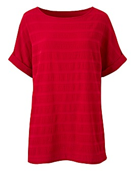Berry Textured Boxy Top
