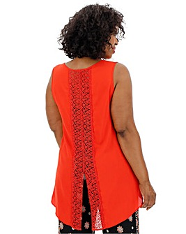 Crochet Back Detail Top