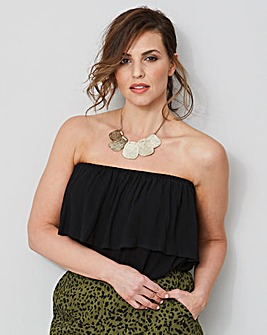 Black Crinkle Pull On Bandeau