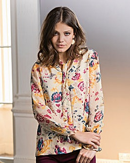 Together Bow Floral Blouse