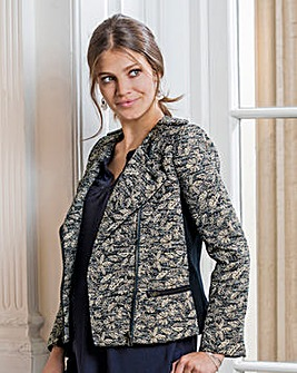 Together Jacquard Biker Jacket