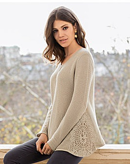 Together Crochet Trim Jumper