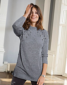 Together Beaded Trim Jumper