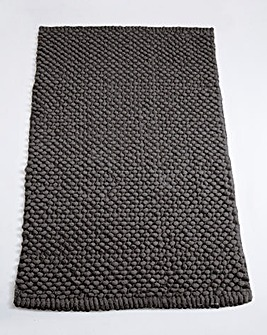 Cotton Bobble Bath Mats - Pewter