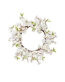 Artificial Cherry Blossom Wreath