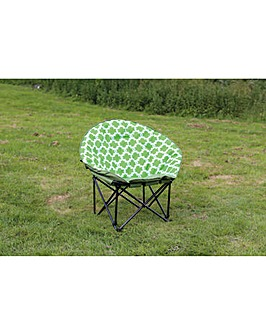 Large moon chair in green chain