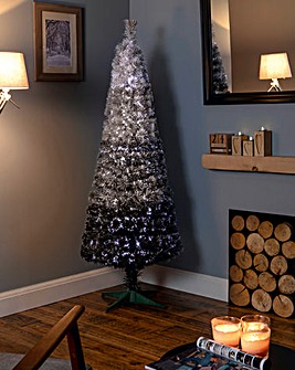 Grey Ombre Pencil Tree