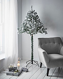 1.8M Flocked Half Tree
